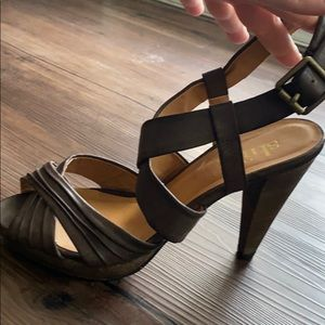 Dark brown high heels